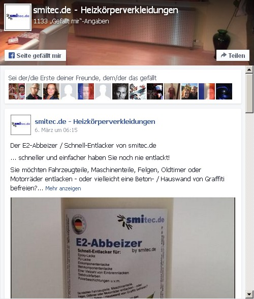 facebook presse heizk rperverkleidungen nach ma entlacker abbeizer. Black Bedroom Furniture Sets. Home Design Ideas